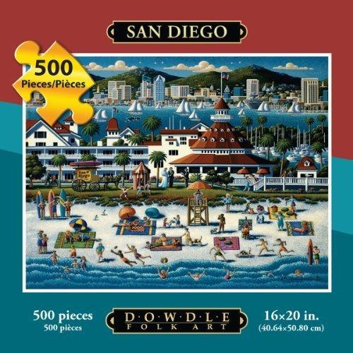 Dowdle Folk Art 500pc 16x20 Puzzle - San Diego by Dowdle Folk Art