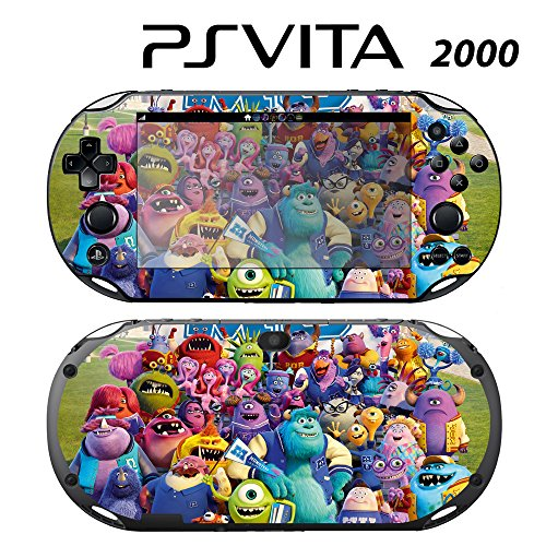 Skin Decal Cover Sticker for Sony PlayStation PS Vita Slim (PCH-2000) - Monster University -  Decals Plus, PV2-DI18