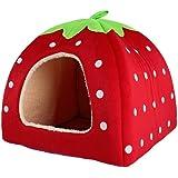 Sungpunet lovely Strawberry Kennel morbido cashmere Warm Nest cane gatto letto casa pieghevole Pet Supplies Red