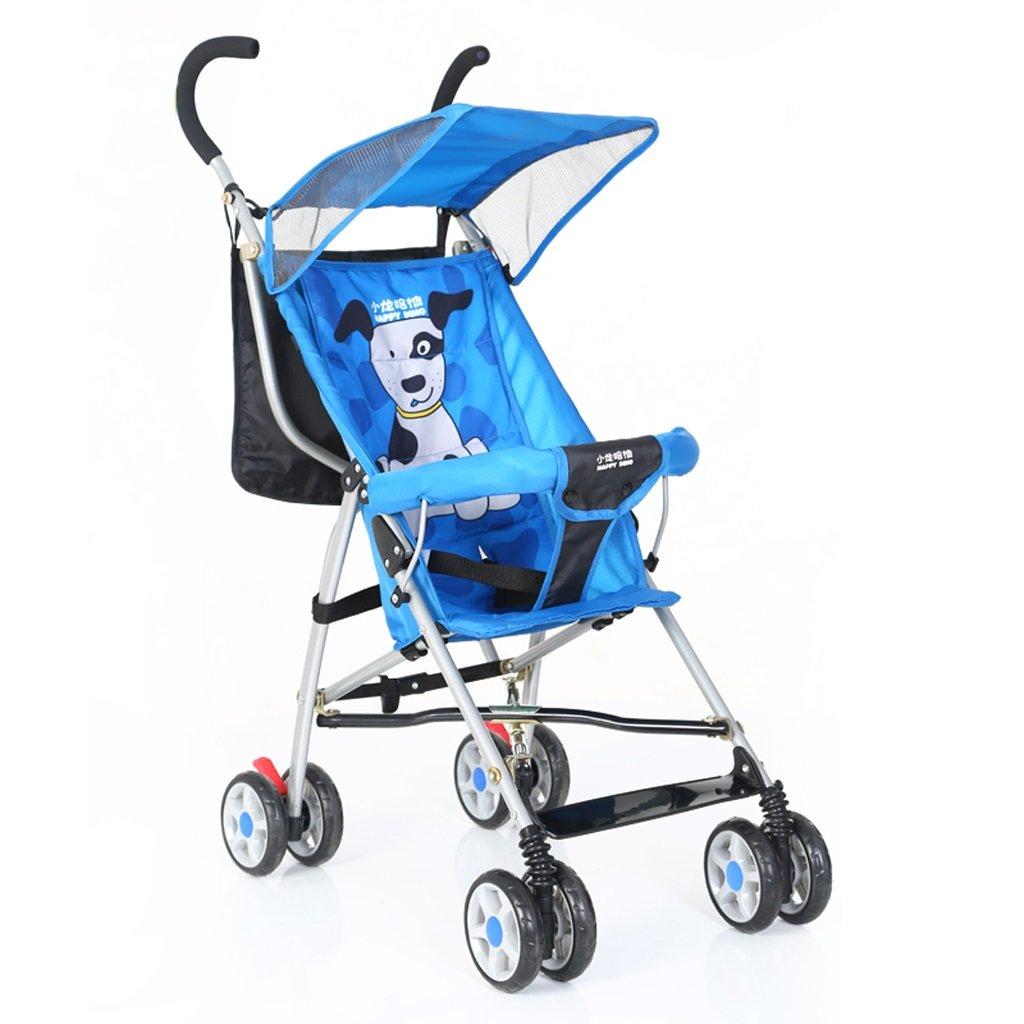 ベビーベビーカー軽量折りたたみベビーカー子供用ベビーカー(ブルー)(赤)710 * 420 * 930mm ( Color : Blue ) B07C9YWSZ4