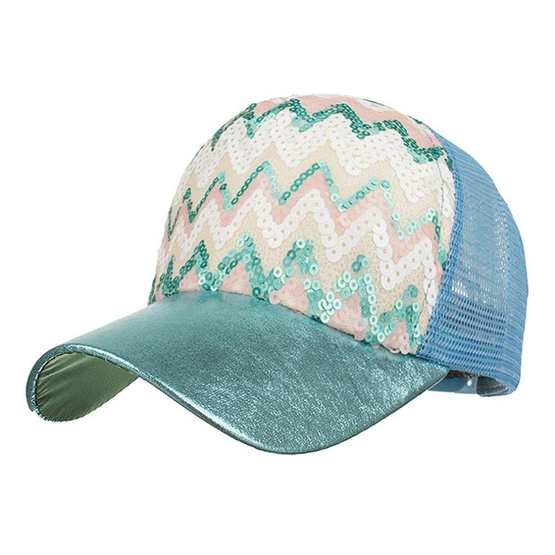 Gorra De BéIsbol ZARLLE De Moda Bling Baseball Cap Hat Ondulado Ajustable  Sequin Mesh Capde Moda ec29acb2926