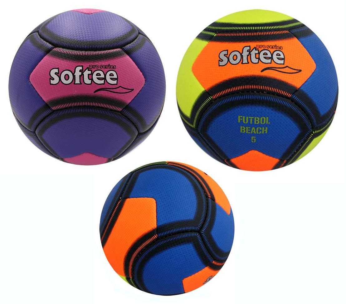 Balon Softee Futbol Beach 5 - Playa 5 - Color Violeta Y Rosa ...