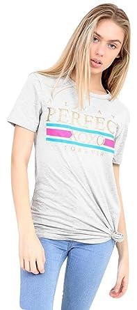Slogan Taille 36 Filles Perfect T Eur Mesdames Always Imprimé Shirt xtpw8xRqU
