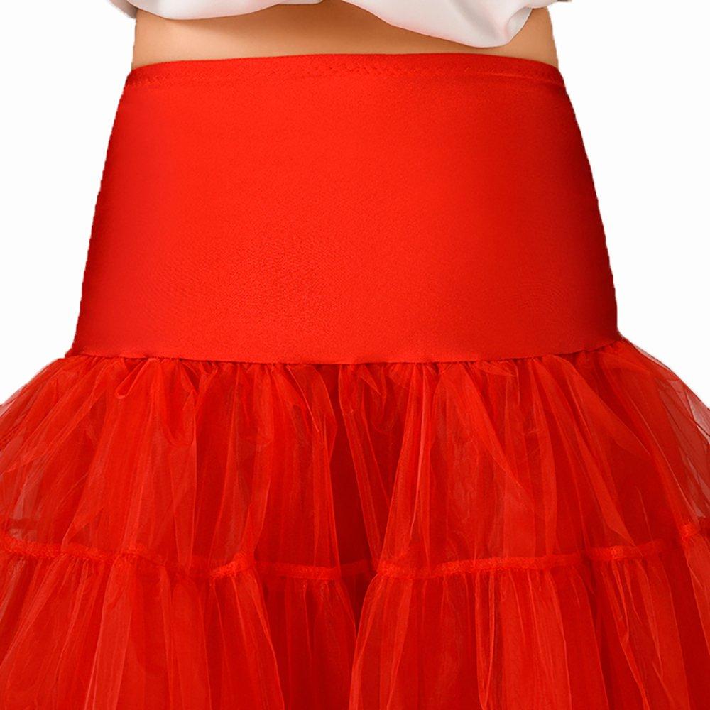 Honey Qiao Colorful Petticoat Tutu Skirt Vintage 50s Underskirt Bridal Slip