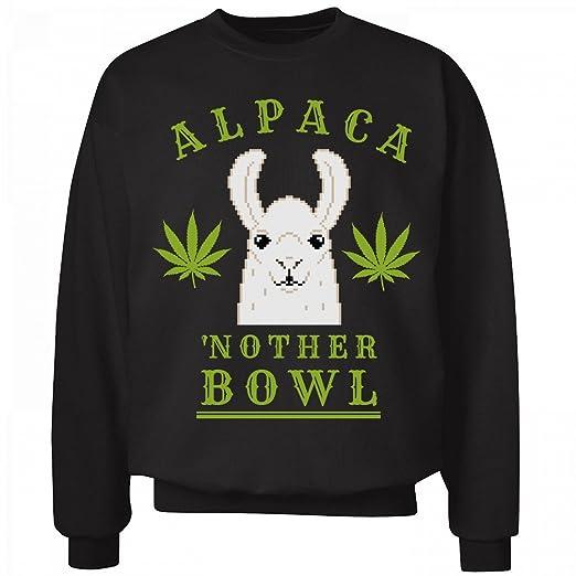 Alpaca'nother Bowl Llama Green: Unisex Hanes Ultimate Crewneck Sweatshirt