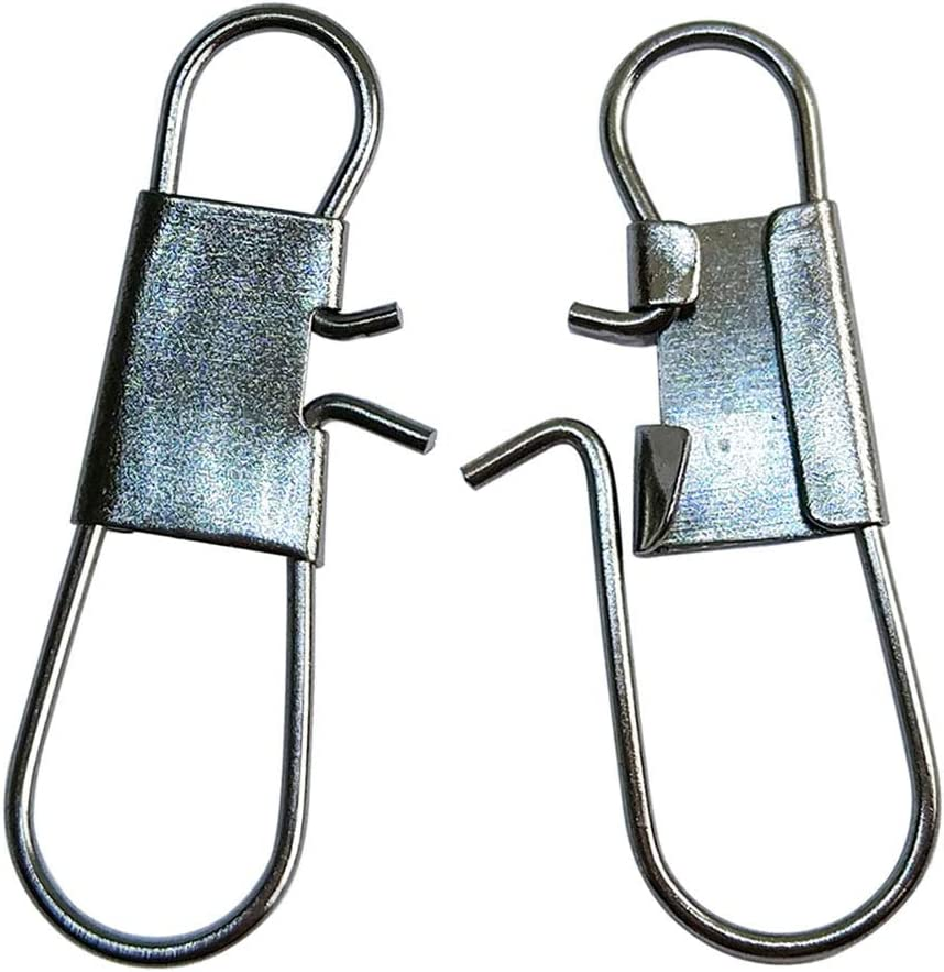 unclesportinfof Fishing Barrel Swivels with Interlock Snap Safety Snap Stainless Steel Copper Corrosion Resistance for Saltwater Freshwater Fishing #5//0 #16 Size 13-100Lb