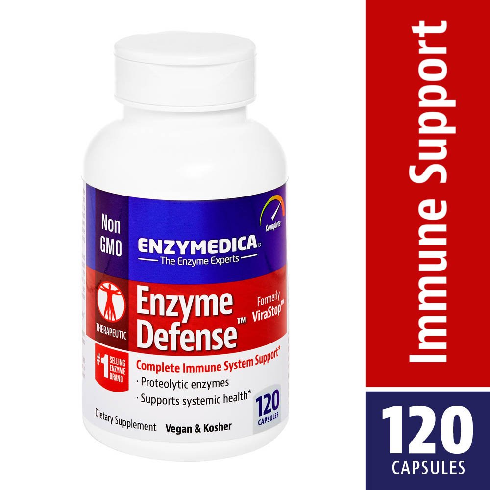 Enzymedica, Enzyme Defense, Specialized Enzyme Formula For Immune System Support, Vegan, Kosher 120 capsules (120 servings) by Enzymedica