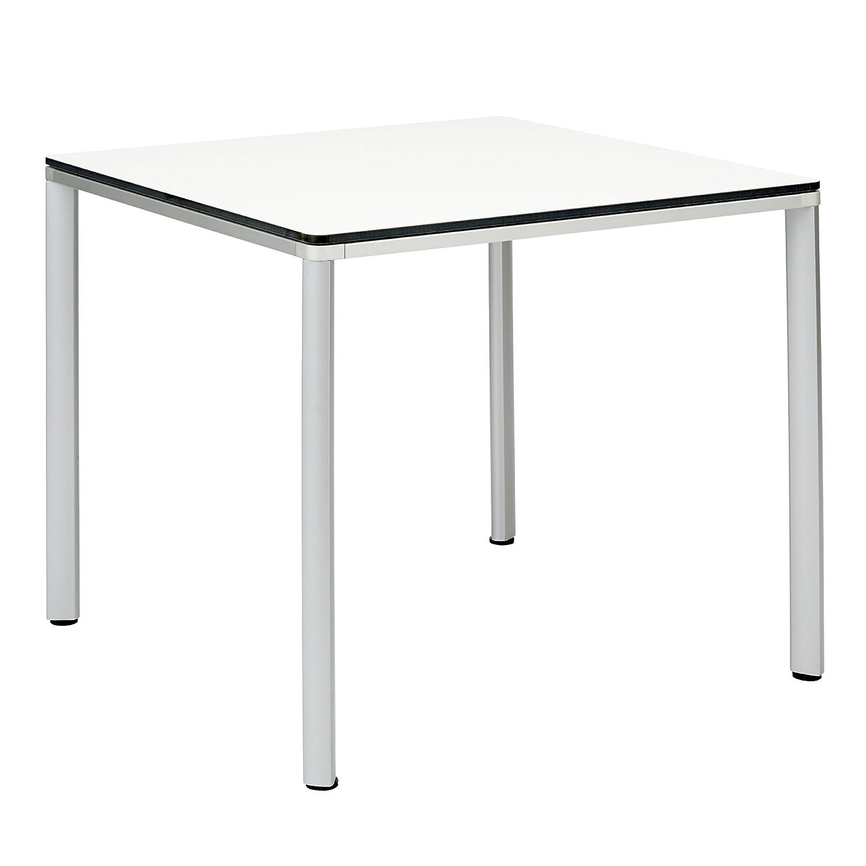 GARPA Portland Aluminium Tisch 90 x 90 Kunstharz weiß