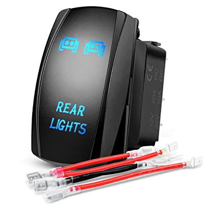 Nilight LED Light Bar Rocker Switch 5Pin Laser On/Off Rear Lights Rocker Switch 20A/12V 10A/24V Switch jumper wires set,2 years Warranty: Automotive