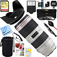 Canon EF 70-200mm f/2.8L IS II USM Telephoto Zoom Lens EOS DSLR Cameras 2751B002 + 64GB Ultimate Filter & Flash Photography Bundle
