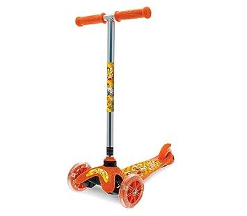 515326 Monopatín de aluminio para niños TWISTER SCOOTER 3 ruedas luminosas h 67 - Naranja