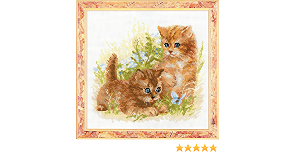 NEW UNOPENED Russian Counted Cross Stitch KIT Riolis 1391 Child/'s Play kitten