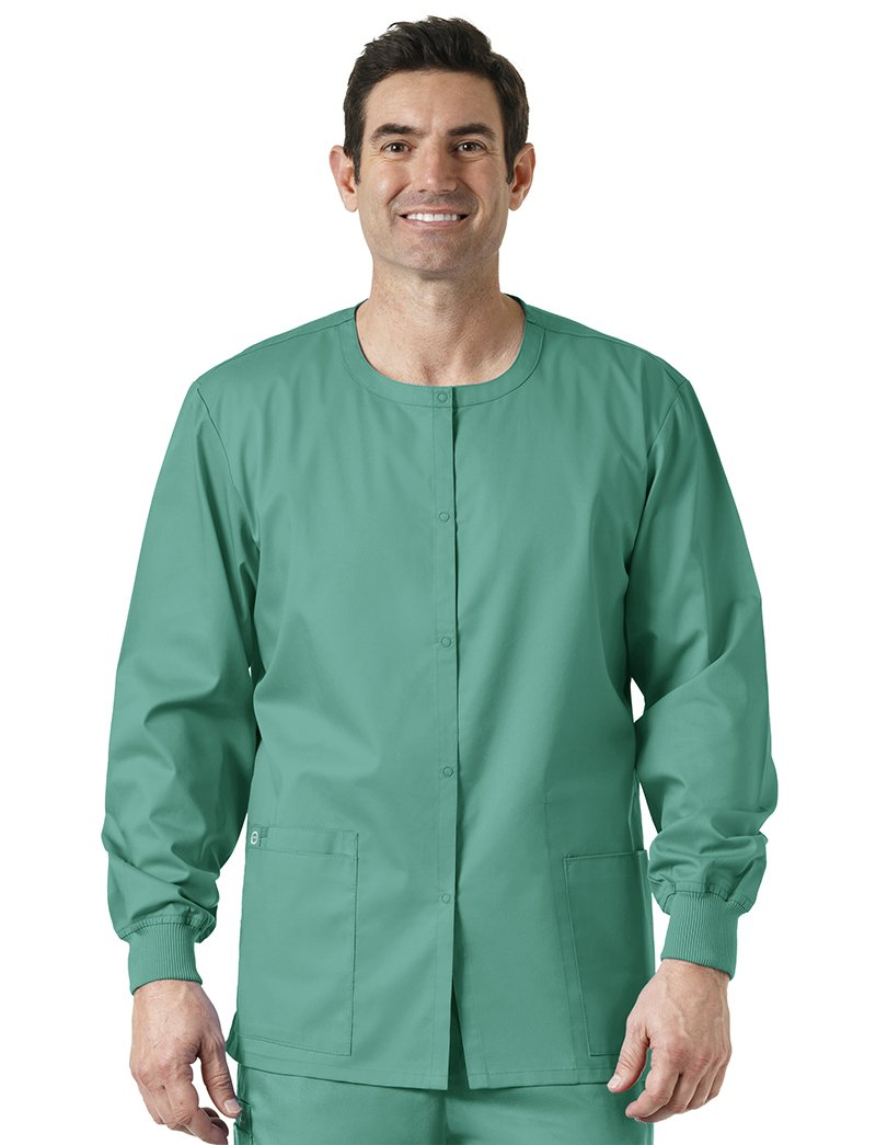 WonderWink Unisex-Adults Snap Front Jacket, Surgical Green, XX-Small