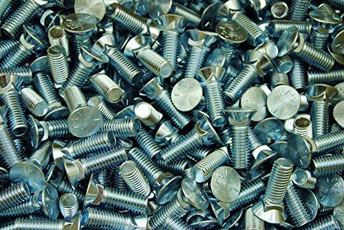 (60) Flat Head #3 Plow Bolt 1/2-13 x 1-1/2 Grade 5 Zinc Plated by Lexar Industrial