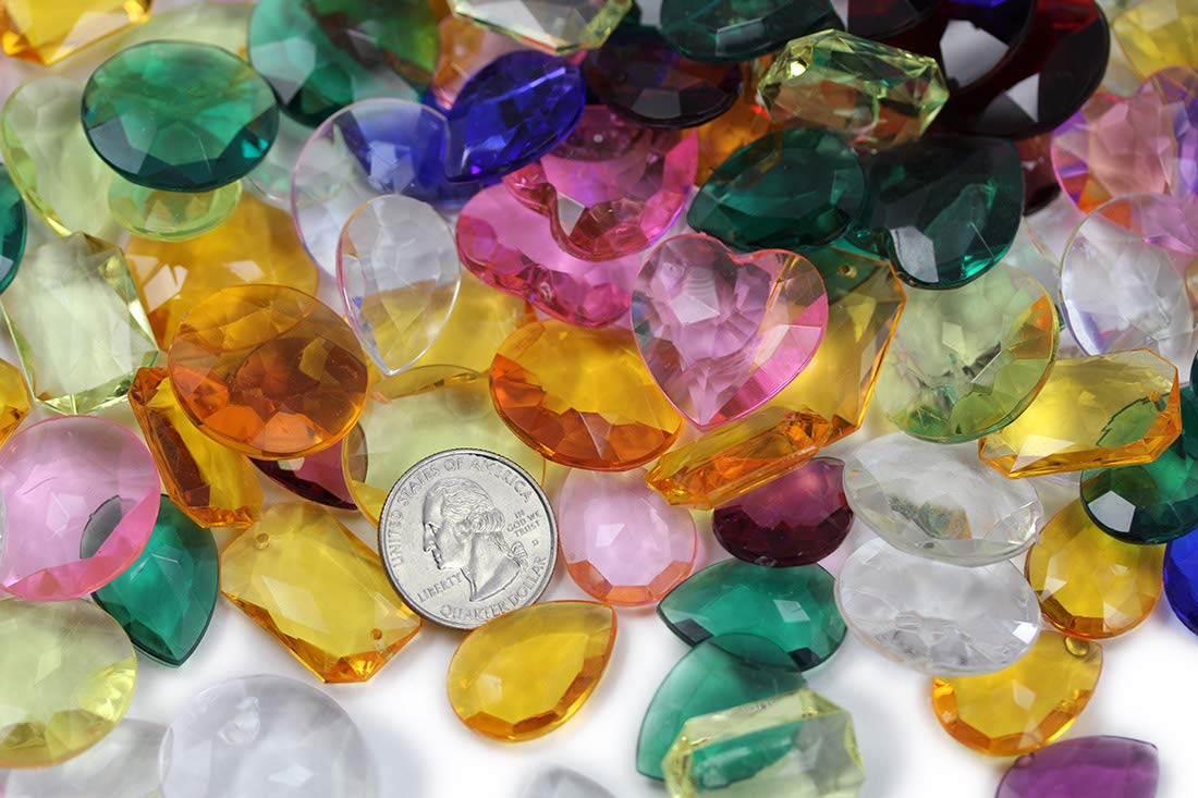 Vase Fillers Allstarco KraftGenius Over 150 PCS Assorted Pirate Treasure Gems 1LBS for Party /& Games Table Scatter Wedding Decor Gemstones Favors