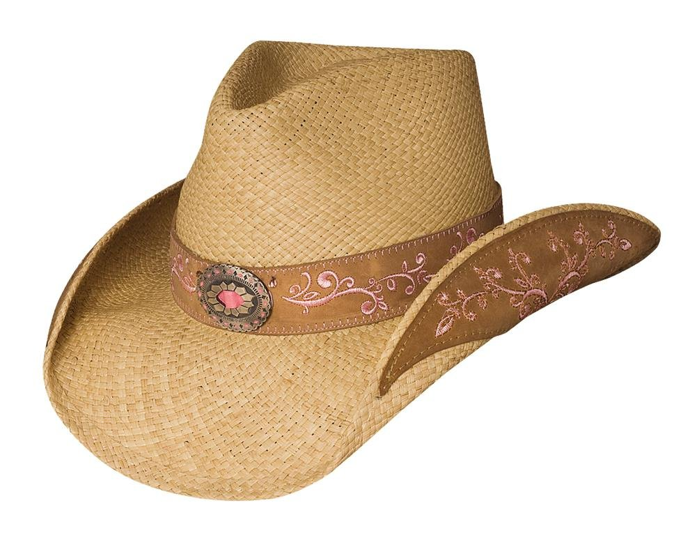 Montecarlo / Bullhide Hats BECAUSE OF YOU Panama Straw Cowboy Hat (Medium) by Montecarlo / Bullhide Hats (Image #1)