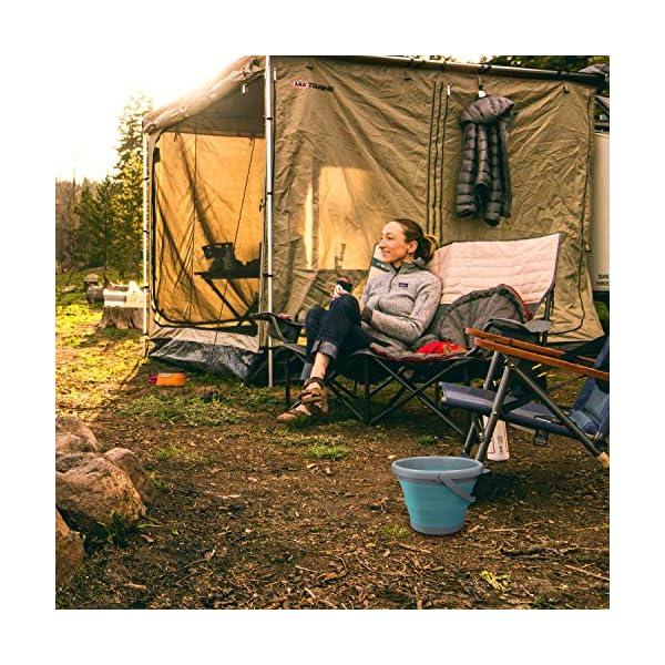 61gIKBR %2BlL Navaris Falteimer Silikon Eimer faltbar - 5l Putzeimer Silikoneimer für Reinigung Camping Angeln Küche - 5 Liter…