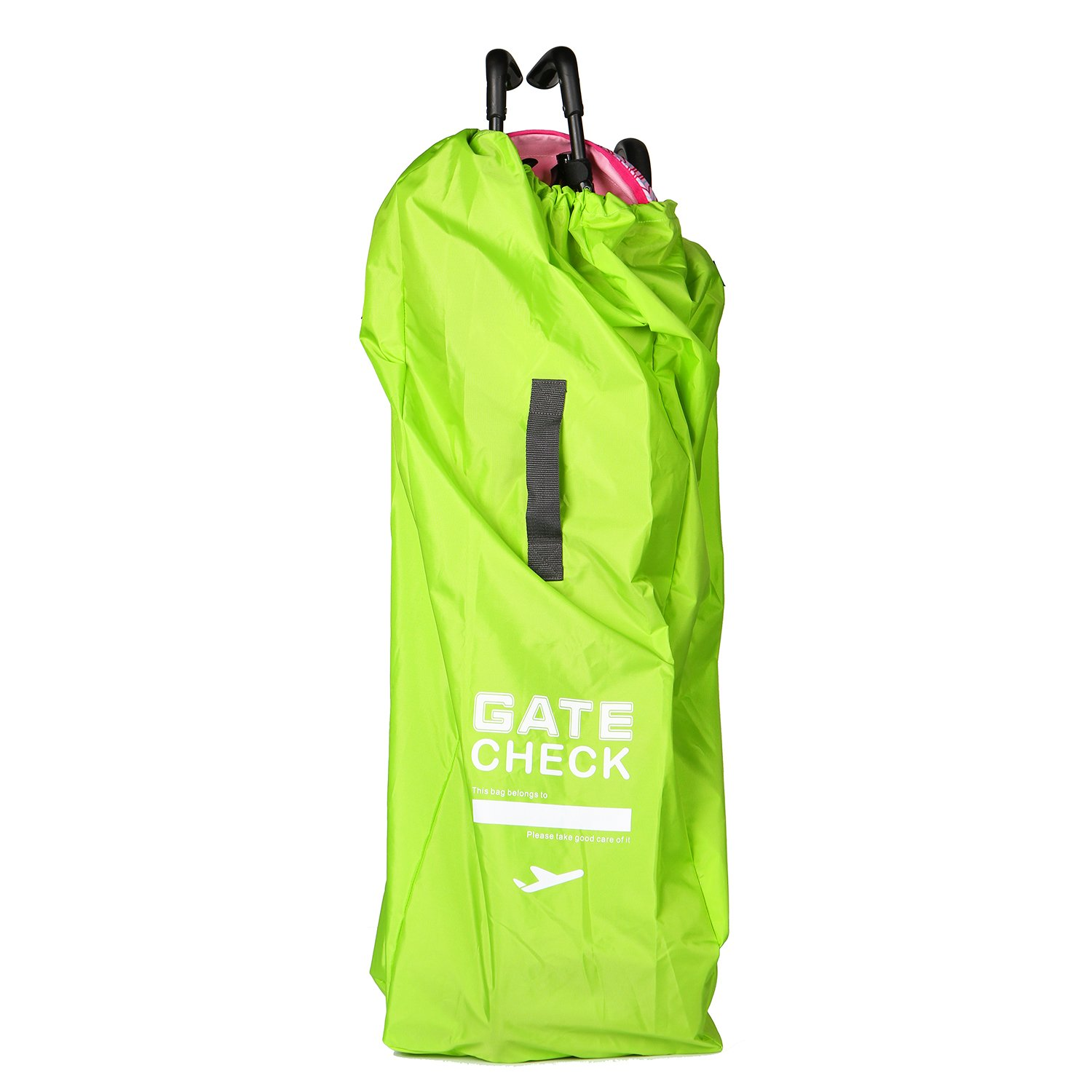 EleFox Gate Check Travel Bag for Universal Umbrella Strollers with Attached Carrying Pouch, Light Green