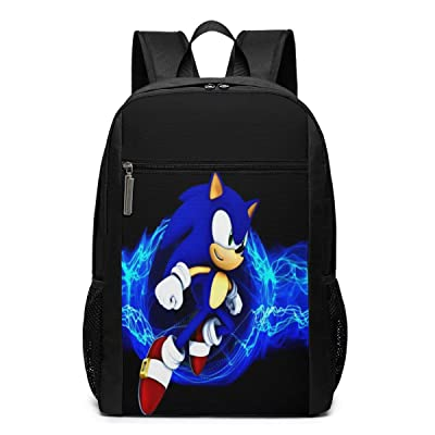 Xuedong Sonic The Hedgehog Backpack Youth Kids Schoolbag Men Women Bag: Clothing