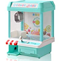 RiZKiZ クレーンゲーム 2WAY電源 [電池/microUSB電源] 【グリーン】 コイン付き あのゲームが自宅で楽しめる!パーティーやお楽しみ会にも