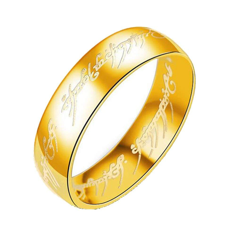 Anillo De Acero Inoxidable One Ring of Power El Señor De One Ring Lovers Mujer Hombre Fashion Jewelry Llian