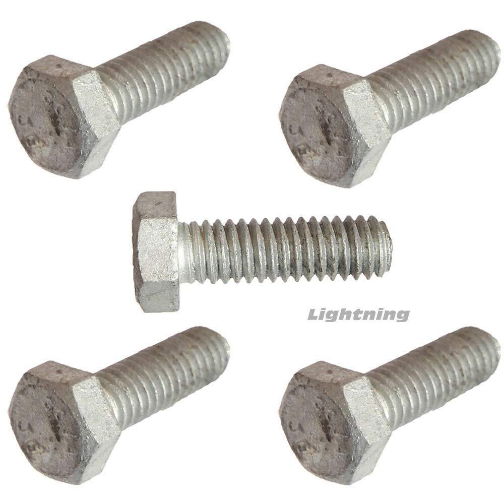 1/4-20 x 2'' Hex Bolts Hot Dip Galvanized Cap Screws and Nuts Quantity 100