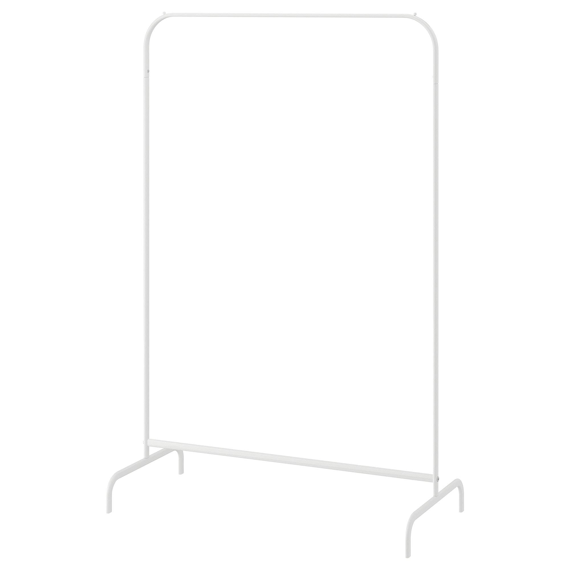 Ikea MULIG Clothes Rack, White, 99x46 cm (39x18 1/8