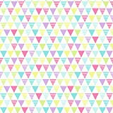 Arthouse, Jester Triangle Pattern Wallpaper, Bright Pink Green Purple