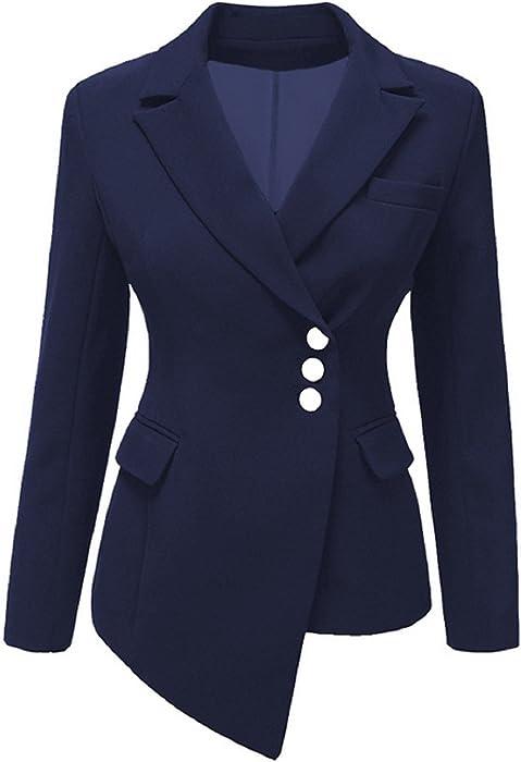 2018 Spring Autumn Ladies Womens Slim Fit Long Sleeve Tailored Plain Peplum  Frill Crop Blazer Women s Slim Fit Jacket Casual Business Work Formal  Evening ... 853ca95d7