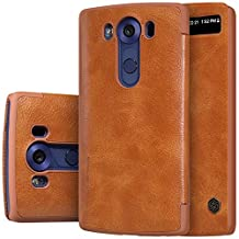 Nillkin LGV10-Qin-Brown Case for LG V10, Retail Packaging, Brown