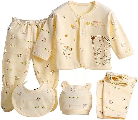 Per 5 piezas Conjuntos de ropa para bebé Canastilla de algodón Ropa interior Regalo para Recién Nacido: Amazon.es: Bebé