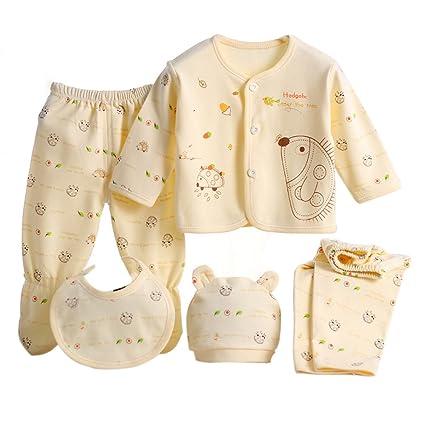 4644b2f97 Per 5 piezas Conjuntos de ropa para bebé Canastilla de algodón Ropa  interior Regalo para Recién