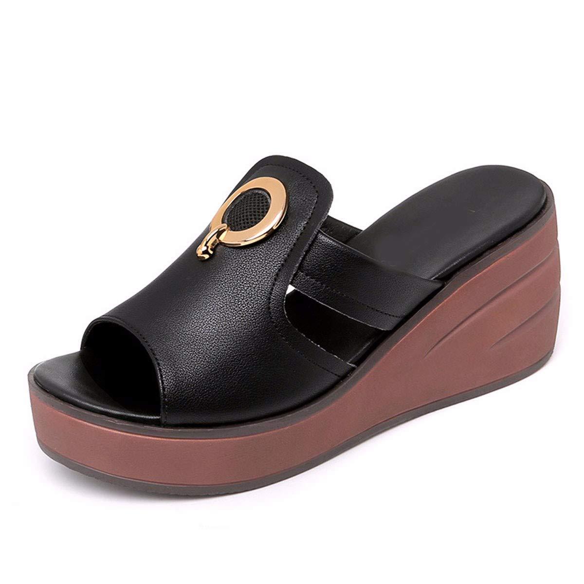 GTVERNH Frauen Schuhe/Frauen-Pantoffeln Steigung Heels Sommer Mode Verschleiß Cork