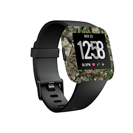 MightySkins Skin Compatible with Fitbit Versa Smartwatch - HTC Green | Protective, Durable, and Unique Vinyl Decal wrap Cover | Easy to Apply, Remove, ...