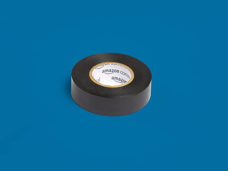paquete de 6 unidades color negro Commercial Cinta aislante 1.9 cm x 18.28 m