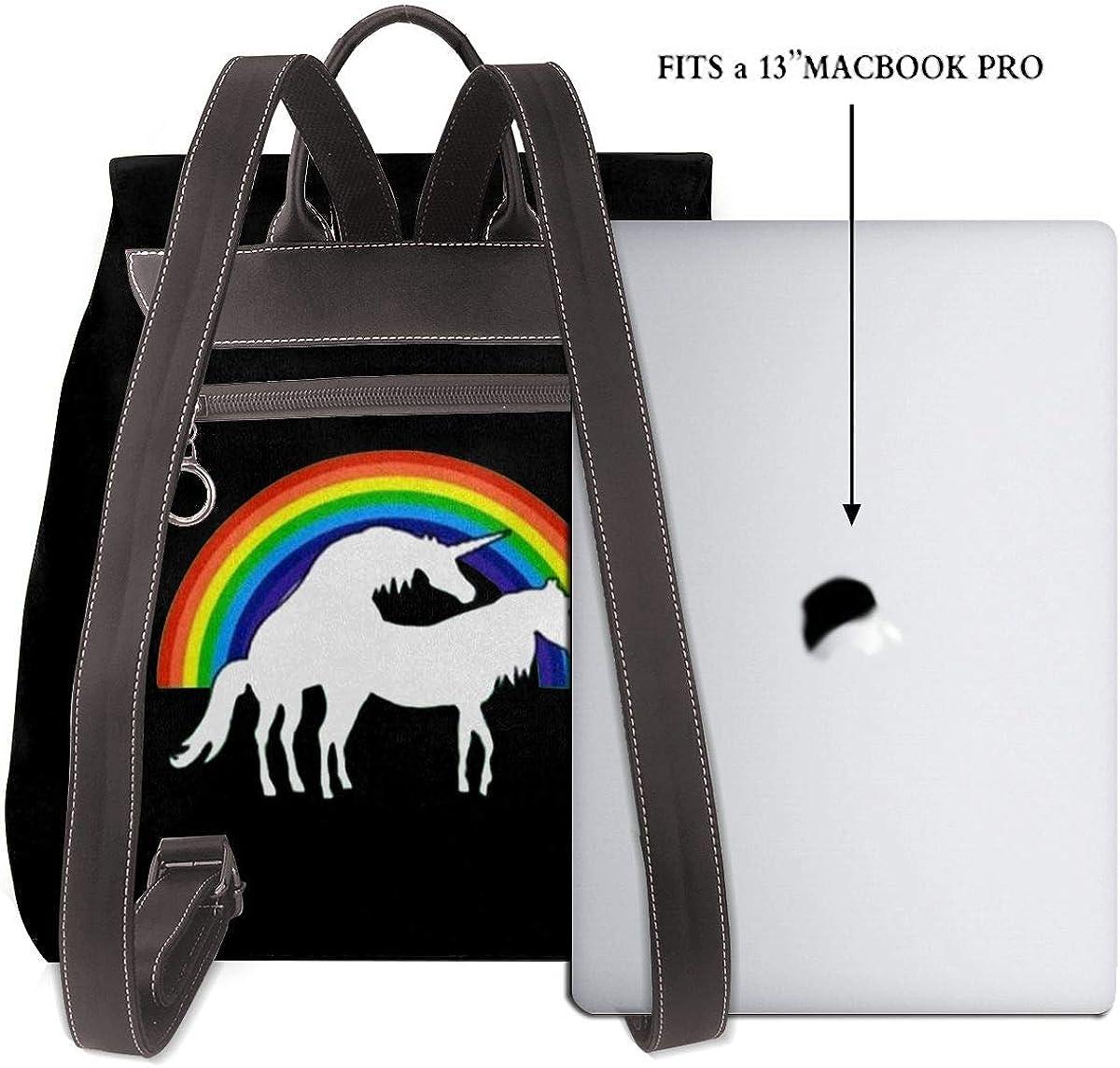 Infinite-Lists - Mini borsa a tracolla da donna, in vera pelle Unicorni.