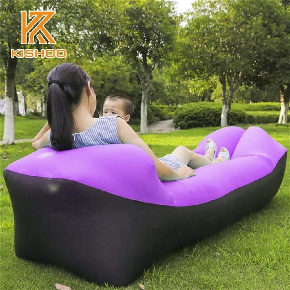 Peninsula Iron Box Camping mat Lazy Bag Lazy Outdoor Camping Lazy Couch Beach Picnic mat Inflatable Sofa Bed Bean Bag air Sofa Leisure Cushion sdaijeuh787 (Color : 1) by Peninsula Iron Box