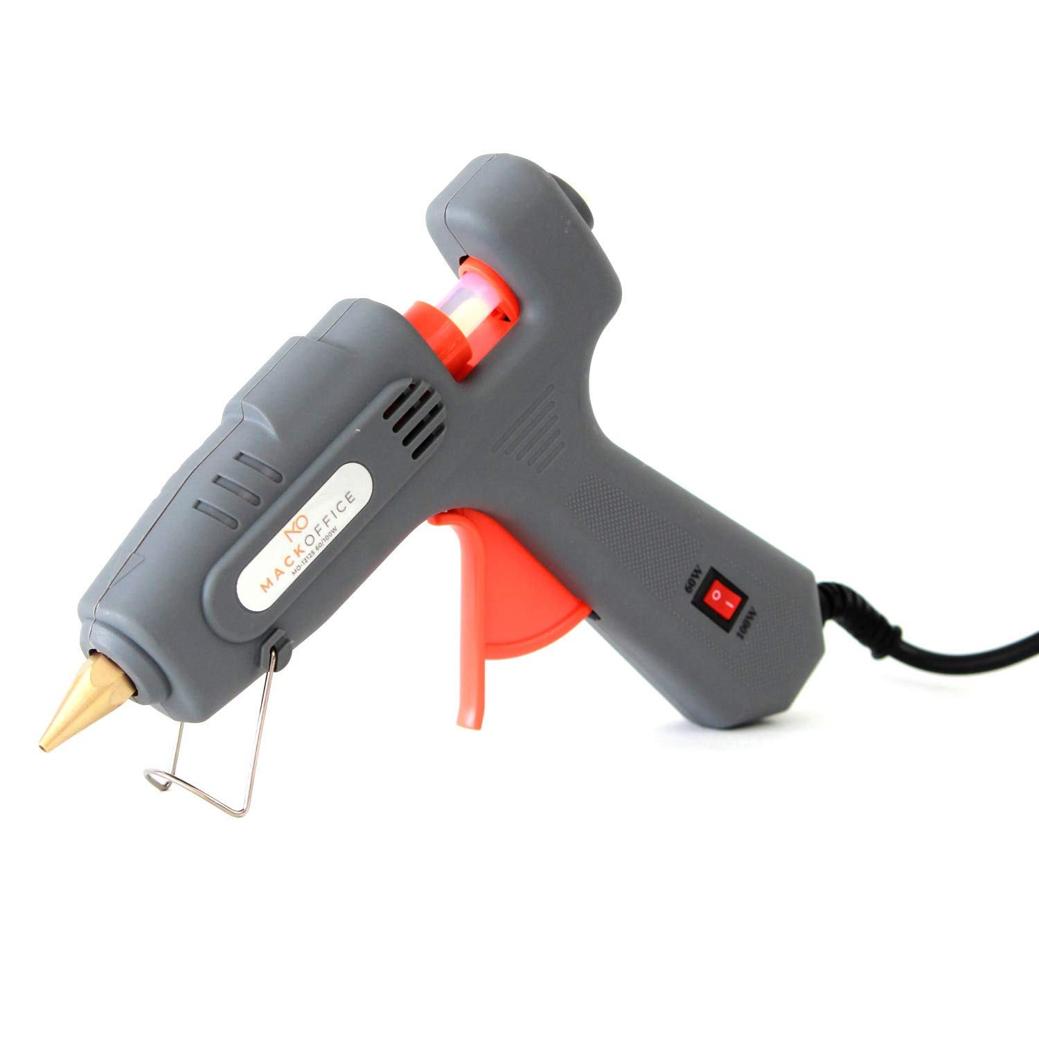 MackOffice Professional Glue Gun Full Size (Not Mini) Hot Melt Glue Gun 60/100W Dual Power High Temp Heavy Duty Melt Glue Gun best for Work | Home and for Arts & Crafts Use,Christmas Decoration/Gifts by MACKOFFICE (Image #1)