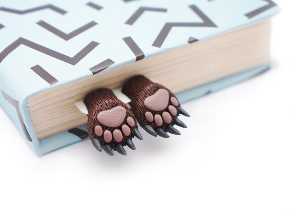 Bear paws bookmark. MyBookmark Ideal Gift For Bookworm and Book Lover. Truly Handmade and Crafted With Love.