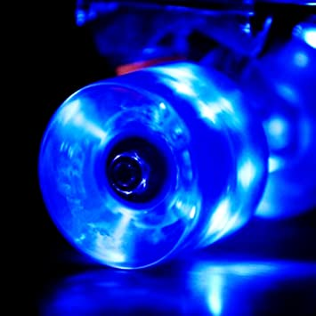Wonnv LED Luces Monopatin Ruedas con Rodamientos 59mm Set de 4