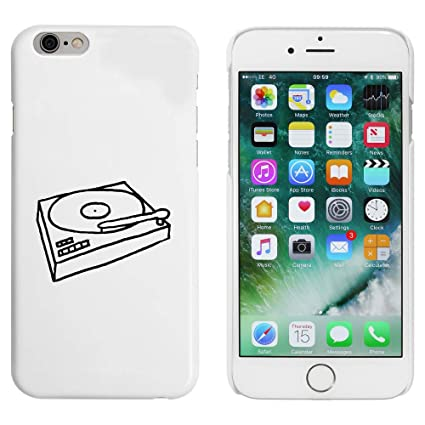Azeeda Blanco Tocadiscos Funda para iPhone 6 y 6s (MC00044026 ...