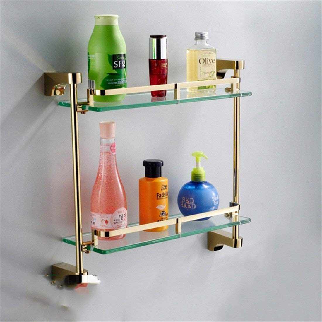 BRNEBN The Copper The Gold of Simple Accessories of Costumes of Bath of Boxes to soap Brush Frame Simple Double Double Pole Pole, (Size : Stacks 2)