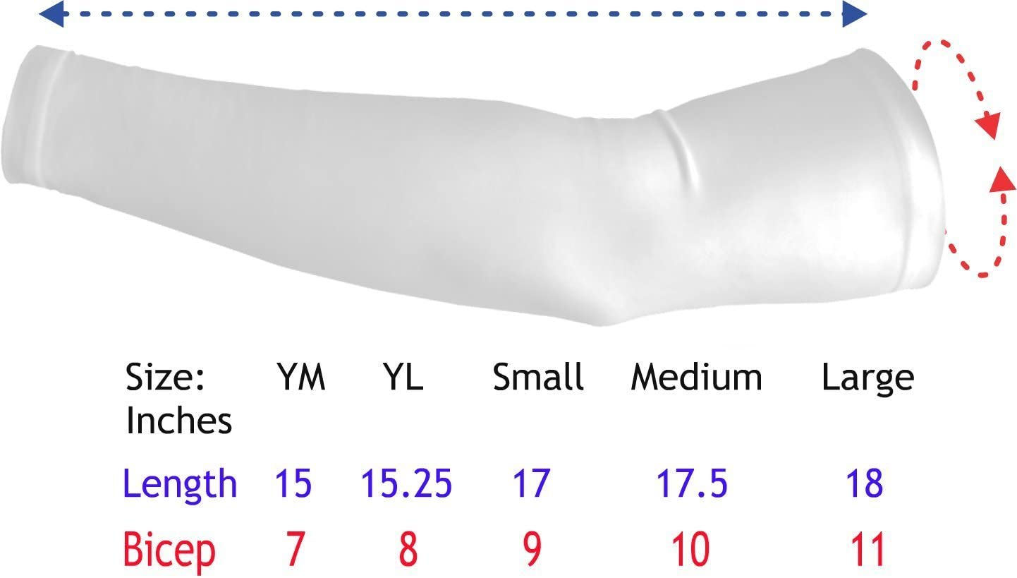 Large Sports Farm New White US Flag Ripping Shirt Moisture Wicking Compression Arm Sleeve