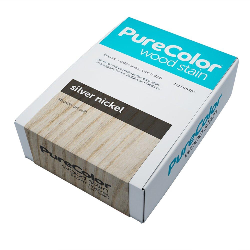 (ピュアカラー) PureColor 環境に優しい木材着色剤 屋内および屋外用 1クォート グレー PCA19-P0001-1Q Silver Nickel Silver Nickel B06XYSWXSZ