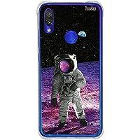 Capa Anti-Impacto Personalizada para Redmi Note 7 - Astronauta na Lua, Husky, Capa Protetora para Celular, Colorido