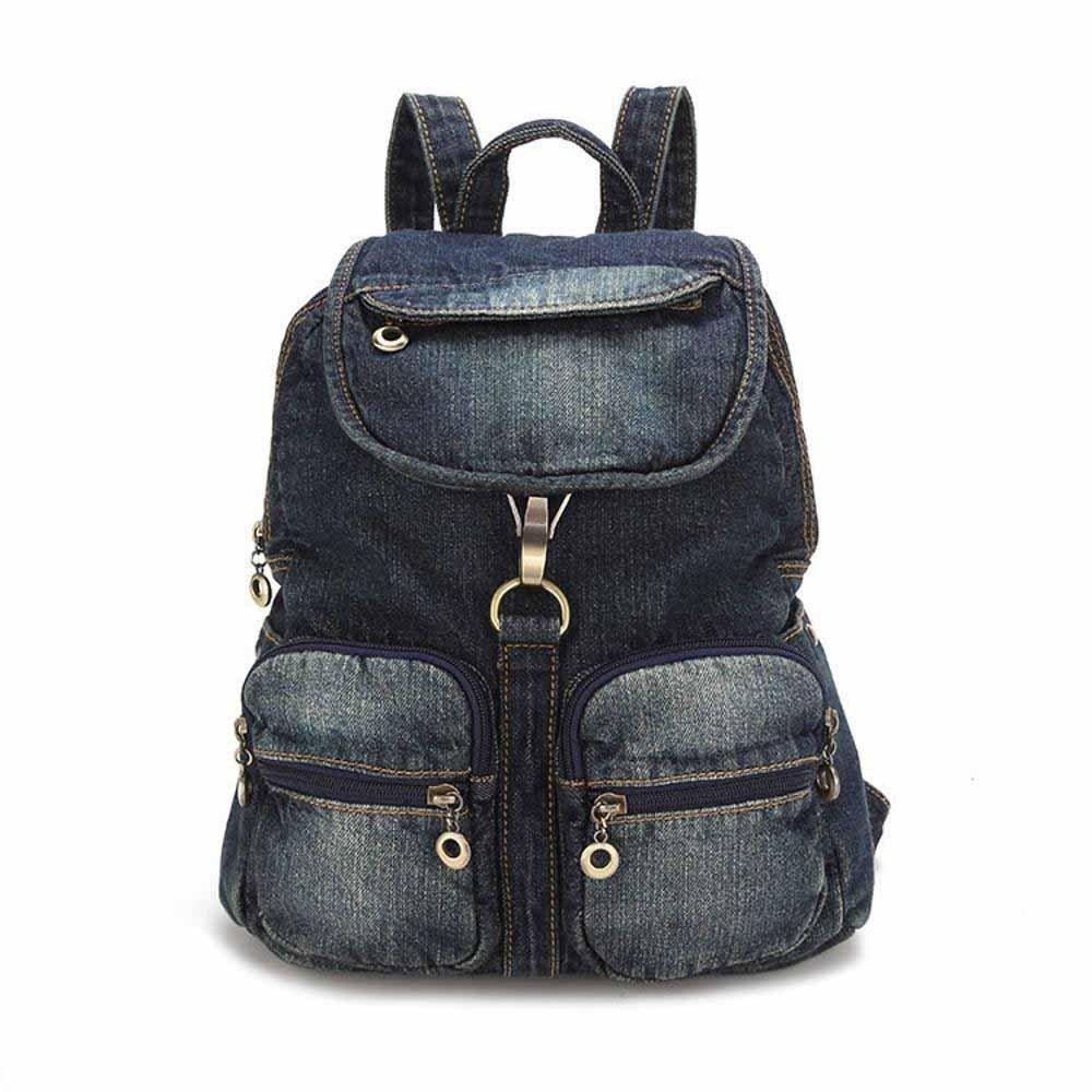 Kaxima Bolso de hombro cien vaquero vaquero ocasional bolso vaquero bolso mochila de senderismo