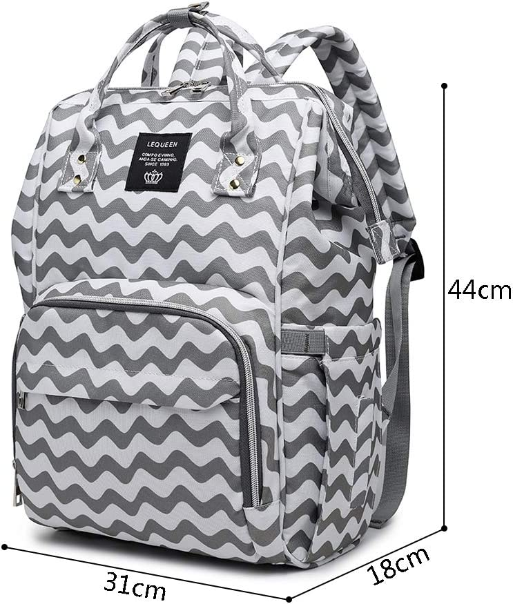 NNGUBIU LEQUEEN Large Capacity Backpack for Mom Baby Care Bag Diaper Nappy Bags GY