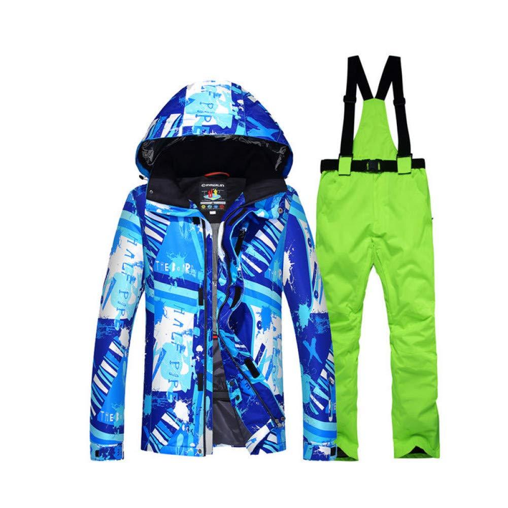 G/ürtel Schneehose KUNHAN Skibekleidung f/ür Herren Herren Schneeanzug Outdoor-Sportbekleidung Snowboardanzug Sets Wasserdicht Winddicht Atmungsaktive Kleidung Ski Jacket