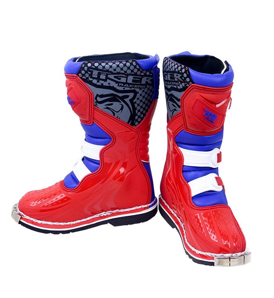 XSWE Motocross-Stiefel, Motorradschuhe Racing Stylist Stylist Stylist Ankle Stiefel, Wasserdichte und Rutschfeste Track-Stiefel für Straßenrennen Radfahren 0df00b