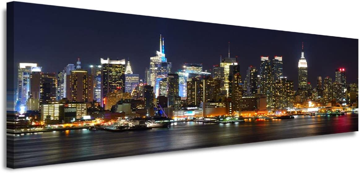 120 x 40 cm Cuadro en Lienzo Nueva York 5715-SCT – Imagen/Impresion/Pintura Listo para Colgar